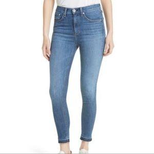Rag & bone | high waist ankle skinny jeans 26